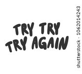 try try again. sticker for... | Shutterstock .eps vector #1062014243