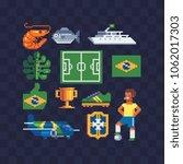 set of brazil national culture...   Shutterstock .eps vector #1062017303