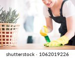 a woman in black overalls and... | Shutterstock . vector #1062019226