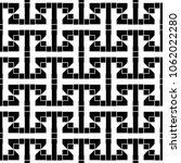 seamless stylized sayagata... | Shutterstock .eps vector #1062022280
