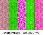 set of seamless line patterns.... | Shutterstock .eps vector #1062028799