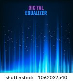 multi color audio waveform... | Shutterstock .eps vector #1062032540