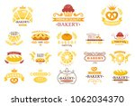 vector set of vintage bakery... | Shutterstock .eps vector #1062034370