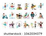 set of people in various... | Shutterstock .eps vector #1062034379