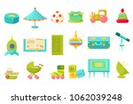 baby toys big set  preschool... | Shutterstock .eps vector #1062039248