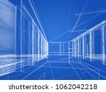 sketch design of interior hall  ... | Shutterstock . vector #1062042218