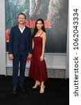 "Small photo of LOS ANGELES - APR 4: Sebastian Roche, Alicia Hannah at the ""Rampage"" Premiere at Microsoft Theater on April 4, 2018 in Los Angeles, CA"