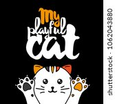 multicolor cat. lettering with... | Shutterstock .eps vector #1062043880