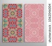 vertical seamless patterns set  ... | Shutterstock .eps vector #1062046004