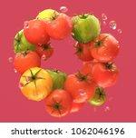 3d rendering of tomato wreath...   Shutterstock . vector #1062046196