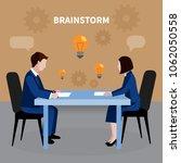 flat design human resources...   Shutterstock .eps vector #1062050558