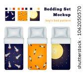childish boy bedding set of...   Shutterstock .eps vector #1062050570