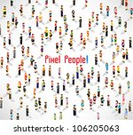 a large group of people meeting ... | Shutterstock .eps vector #106205063