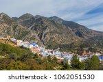 famous medina  old town  blue...   Shutterstock . vector #1062051530