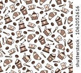 seamless pattern on the coffee... | Shutterstock .eps vector #1062052616