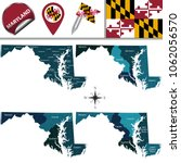 vector map of maryland with... | Shutterstock .eps vector #1062056570