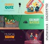 tv show kids set of horizontal... | Shutterstock .eps vector #1062059750