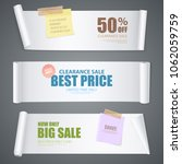 realistic scroll paper banners... | Shutterstock .eps vector #1062059759