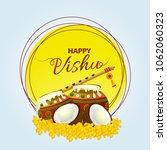vishu   keralas's new year   | Shutterstock .eps vector #1062060323