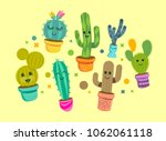 a collection of bright and... | Shutterstock .eps vector #1062061118