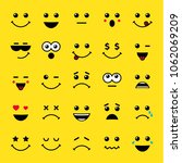 set of line art emoticons or... | Shutterstock .eps vector #1062069209