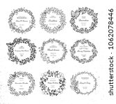 set of wreath isolated on white ... | Shutterstock .eps vector #1062078446