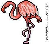 vector pixel art heron bird... | Shutterstock .eps vector #1062084164