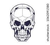 geometric style skull head...   Shutterstock .eps vector #1062091580