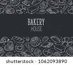 bakery house. horizontal border ... | Shutterstock .eps vector #1062093890