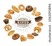 freshly baked everyday... | Shutterstock .eps vector #1062093896