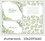 wedding invitation frame set... | Shutterstock . vector #1062095660