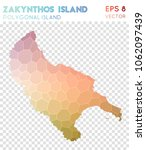 zakynthos island polygonal ... | Shutterstock .eps vector #1062097439