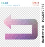 back polygonal symbol. actual... | Shutterstock .eps vector #1062097796