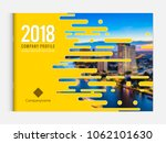 cover design for annual report... | Shutterstock .eps vector #1062101630