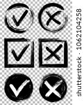 tick and cross test signs set ... | Shutterstock .eps vector #1062104258