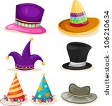 collection hat vector file | Shutterstock .eps vector #106210634