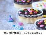 cupcakes with sugar coated... | Shutterstock . vector #1062110696