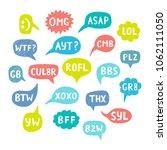 hand drawn internet acronyms ... | Shutterstock . vector #1062111050