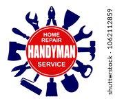 handyman services round vector... | Shutterstock .eps vector #1062112859