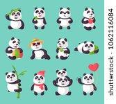 panda vector bearcat or chinese ...   Shutterstock .eps vector #1062116084