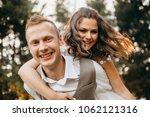 happy wedding couple in love...   Shutterstock . vector #1062121316
