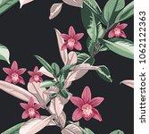 vector seamless tropical... | Shutterstock .eps vector #1062122363