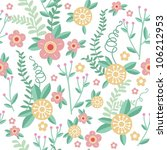 cute floral seamless pattern... | Shutterstock .eps vector #106212953