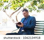 the man  that with enthusiasm... | Shutterstock . vector #1062134918