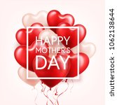 mothers day background with red ... | Shutterstock .eps vector #1062138644