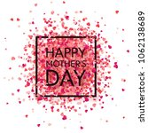 mothers day background with red ... | Shutterstock .eps vector #1062138689