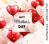 mothers day background with red ... | Shutterstock .eps vector #1062138710