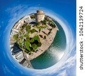little planet panorama of the... | Shutterstock . vector #1062139724