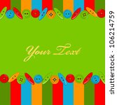 invitation card with colorful... | Shutterstock .eps vector #106214759