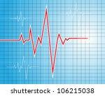abstract heart beats cardiogram ... | Shutterstock .eps vector #106215038